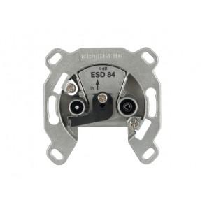 Kathrein ESD 84 Antennen-Steckdose | SAT/BK-Einzeldose, Einzelanschlussdose 2-fach, DC-Durchlass