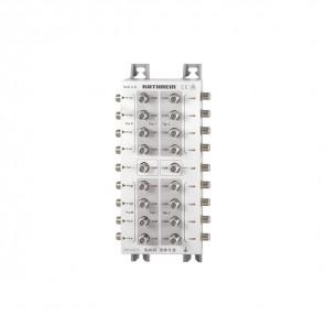 Kathrein EAX 2912 2-fach Sat-ZF-Abzweiger | eine Stammleitung (8x Sat-ZF, zwei Satelliten) auf zwei Kaskaden + Durchgang