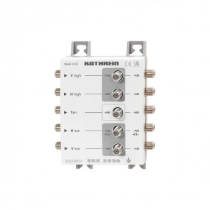Kathrein EBX 2520 2-fach Sat-ZF-Verteiler | Verteilung einer Stammleitung (ein Satellit) auf zwei Kaskaden