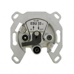 Kathrein ESU 33 3-Loch Sat-Durchgangsdose mit DC Durchlass und Sicherheitselektronik