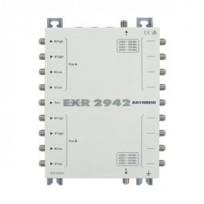 Kathrein EXR 2942 Kaskaden- Einkabelmultischalter, 9 auf 2x4 Durchgang