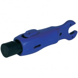 Cabelcon Pocket-Installer 2-in-1 Taschenwerkzeug mit Abisolierfunktion und Schraubenschlüssel für F-Stecker