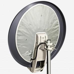 Fuba DAH 850 Sat-Schüssel DAA 850 A 85cm Aluminium anthrazit inkl. vormontierter Antennenheizung