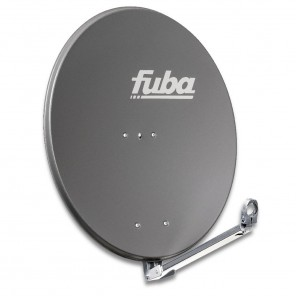 Fuba DAL 800 A Alu Sat-Antenne anthrazit 74x84 cm   Aluminium Sat-Spiegel, klappbarer Feedarm, montagefreundlich   B-Ware