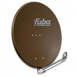Fuba DAL 800 B Alu Sat-Antenne braun 74x84 cm | Aluminium Sat-Spiegel, klappbarer Feedarm, montagefreundlich