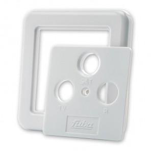 Fuba GDZ 300 Abdeckplatte für Antennensteckdosen mit 3 Ausgängen perlweiß