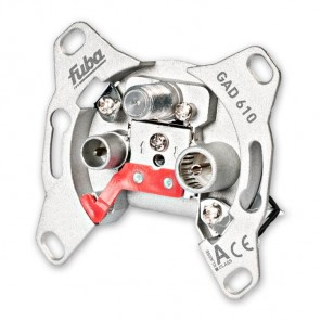 Fuba GAD 610 programmierbare Durchgangs-Sicherheitsantennendose mit einer Anschlussdämpfung von 10 dB