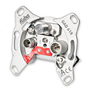 Fuba GAD 618 programmierbare Durchgangs-Sicherheitsantennendose mit einer Anschlussdämpfung von 18 dB