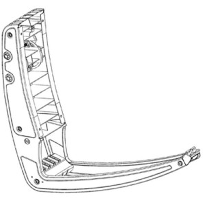 Fuba DAA 650 Rückenteil mit Tragarm