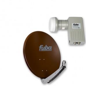 Fuba DAA 650 B + Fuba DEK 201 Twin-LNB Außeneinheit für zwei Teilnehmer, 1 Satellit