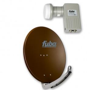 Fuba DAA 780 B + Fuba DEK 201 Twin-LNB Außeneinheit für zwei Teilnehmer, 1 Satellit