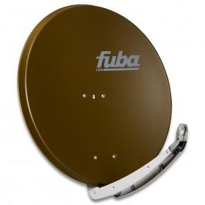 Fuba DAA 850 B Sat-Antenne braun | Alu Sat-Schüssel 85 cm mit Doppeltragarm | B-Ware