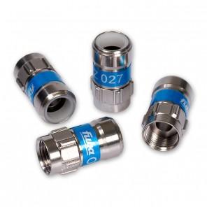 Fuba OVZ 027 Push-On F-Stecker in Vollmetallausführung für Kabel mit 4,8 mm Dielektrikum.