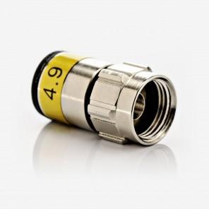 Fuba OVZ 037 Vollmetall Push-On F-Stecker | für Koaxialkabel mit 4,6 mm Dielektrikum