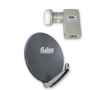 Fuba DAA 650 A + Fuba DEK 206 Twin-LNB Außeneinheit für zwei Teilnehmer, 1 Satellit