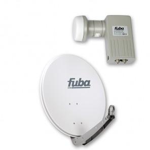 Fuba DAA 650 G + Fuba DEK 206 Twin-LNB Außeneinheit für zwei Teilnehmer, 1 Satellit