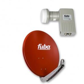 Fuba DAA 650 R + Fuba DEK 206 Twin-LNB Außeneinheit für zwei Teilnehmer, 1 Satellit