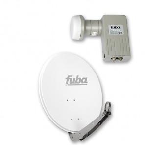 Fuba DAA 650 W + Fuba DEK 206 Twin-LNB Außeneinheit für zwei Teilnehmer, 1 Satellit
