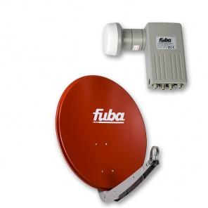 Fuba DAA 650 R + Sharp BS1R8EL400A (SEK 414)  Quad-LNB Außeneinheit für vier Teilnehmer, 1 Satellit