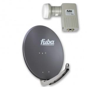 Fuba DAA 780 A + Fuba DEK 201 Twin-LNB Außeneinheit für zwei Teilnehmer, 1 Satellit