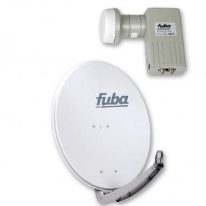 Fuba DAA 780 G + Fuba DEK 201 Twin-LNB Außeneinheit für zwei Teilnehmer, 1 Satellit