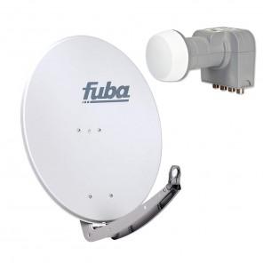 Fuba DAA 780 G + Fuba DEK 416 Quad-LNB Außeneinheit für vier Teilnehmer, 1 Satellit