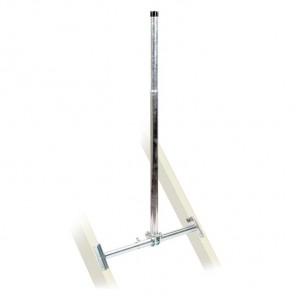 Fuba DSP 065 Dachsparrenhalter für Sat-Antennen | Sparrenabstand: 39-60 cm, Masthöhe: 130 cm, Ø 48 mm, feuerverzinkt, Kabeldurchführung