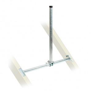 Fuba DSP 095 Dachsparrenhalter für Sat-Antennen | Sparrenabstand: 87-120 cm, Masthöhe: 90 cm, Ø 48 mm, feuerverzinkt, Kabeldurchführung
