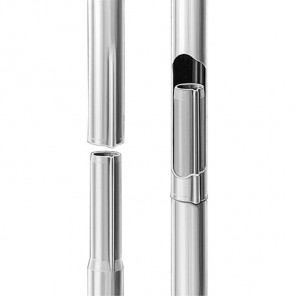 Fuba GZM 422 Antennenmast für Sat-Antennen steckbar | 1x 2,0m Länge, 42mm ø, feuerverzinkter Stahl