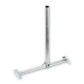 B-Ware Fuba DSP 090 Dachsparrenhalter für Sat-Antennen | Sparrenabstand: 51-90 cm, Masthöhe: 90 cm, Ø 48 mm, feuerverzinkt, Kabeldurchführung