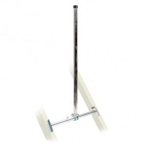 Fuba DSP 130 Dachsparrenhalter für Sat-Antennen | Sparrenabstand: 51-90 cm, Masthöhe: 130 cm, Ø 48 mm, feuerverzinkt, Kabeldurchführung