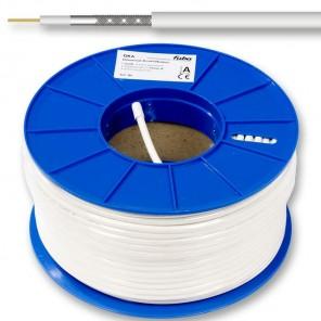 Fuba GKA 420 Mini-Koaxkabel | weiß, 200m-Spule, 4,5mm , 2-fach geschirmt