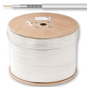 Fuba GKA 420 Mini-Koaxkabel | weiß, 500m-Trommel, 4,5mm , 2-fach geschirmt