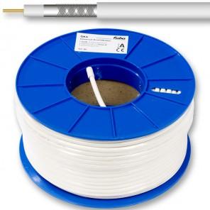 Fuba GKA 725 Sat-Koaxialkabel ClassA 6,8mm 100m-Ring weiß Innenleiter aus Kupfer