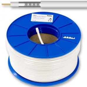Fuba GKA 720 Universal-Koaxialkabel 100m-Ring weiß doppelte Schirmung aus Alufolie und Almelec