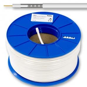 Fuba GKA 520 Midi-Koaxialkabel 100m-Ring weiß 5,0mm Innenleiter aus Kupfer
