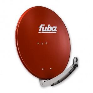 Fuba DAA 780 R Sat-Antenne B-Ware | Sat-Schüssel Aluminium, ziegelrot, 74 cm x 84 cm, Reflektor leicht verbeult