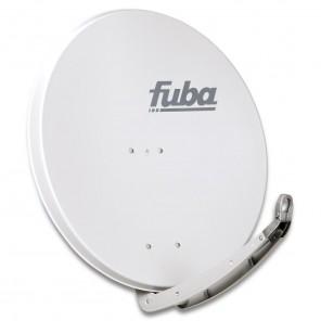 Fuba DAA 850 G Sat-Antenne hellgrau | Alu Sat-Schüssel 85 cm mit Doppeltragarm | B-Ware