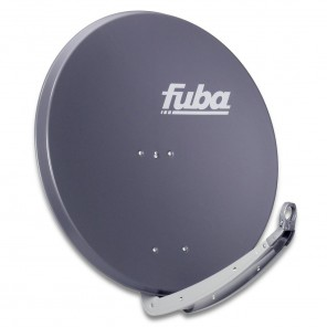 Fuba DAA 850 A Sat-Antenne anthrazit | Alu Sat-Schüssel 85 cm mit Doppeltragarm