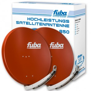 Fuba DAA 850 R Doppelpack Satellitenschüssel rot 85cm