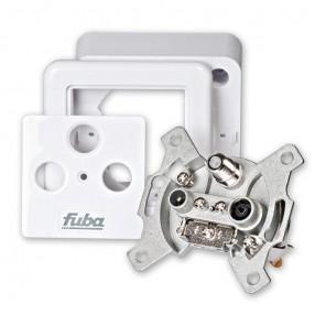 Fuba GAD 310 DC Antennen-Durchgangsdose mit DC-Durchgang und 3 separaten Anschlüssen für Satelliten, TV und Radio