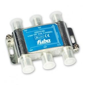 Fuba OHA 420 4-fach Abzweiger in horizontaler Bauform mit 20 dB Abzweigdämpfung