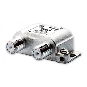 Fuba OHV 201 Sat-Verteiler 2-fach | Sat & BK Verteiler, DC-Durchlass, Unicable-tauglich [geeignet für Satellitenanlagen (DVB-S/DVB-S2), BK-Anlagen (DVB-C) und terrestrischen Empfang (UKW, DAB+, DVB-T)]