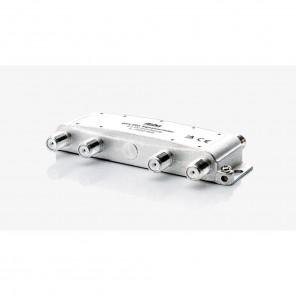 Fuba OHV 801 Sat-Verteiler 8-fach | Sat & BK Verteiler, DC-Durchlass, Unicable-tauglich [geeignet für Satellitenanlagen (DVB-S/DVB-S2), BK-Anlagen (DVB-C) und terrestrischen Empfang (UKW, DAB+, DVB-T)]