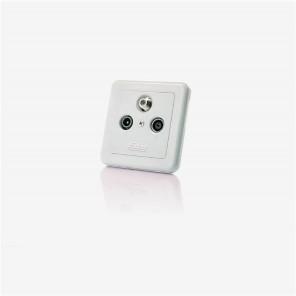 Fuba GAD 300 Antennen-Einzeldose mit 3 separaten Anschlüssen für Satelliten, TV und Radio