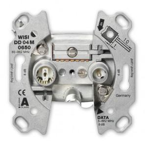 Wisi DD 04M 0650 Modem-Stichdose, F-Anschluss