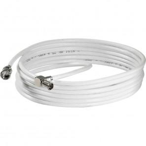 Wisi DS 26 0501 Modem-Anschlusskabel 5m F-Quick auf Wiclic-Winkelstecker | für Multimedia-Antennensteckdosen