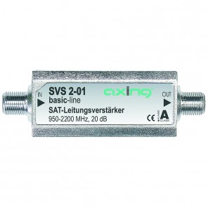 Axing SVS 2-01 Satelliten-Leitungsverstärker Inline Sat  | 20 dB, 950-2400 MHz