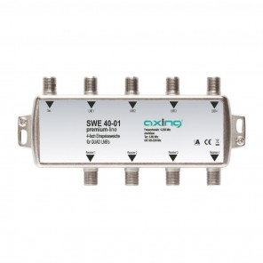 Axing SWE 40-01 4-fach Einspeisweiche | SAT/TV, Quad-LNB