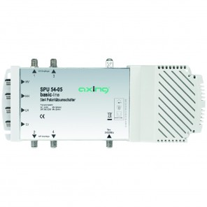Axing SPU 54-05 basic-line Sat-Multischalter 4 Teilnehmer | 5 in 4, Stand-Alone, HDTV-, 4K-, 3D-tauglich
